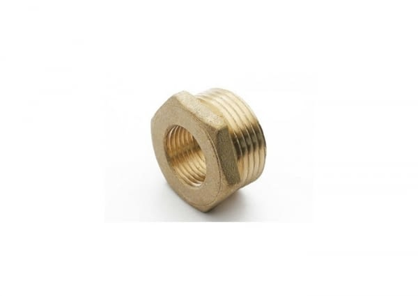"075112 - HEXAGON BUSHING FIG.241 1/8x3/8"" THREADED BRASS - SOBIME - 1"